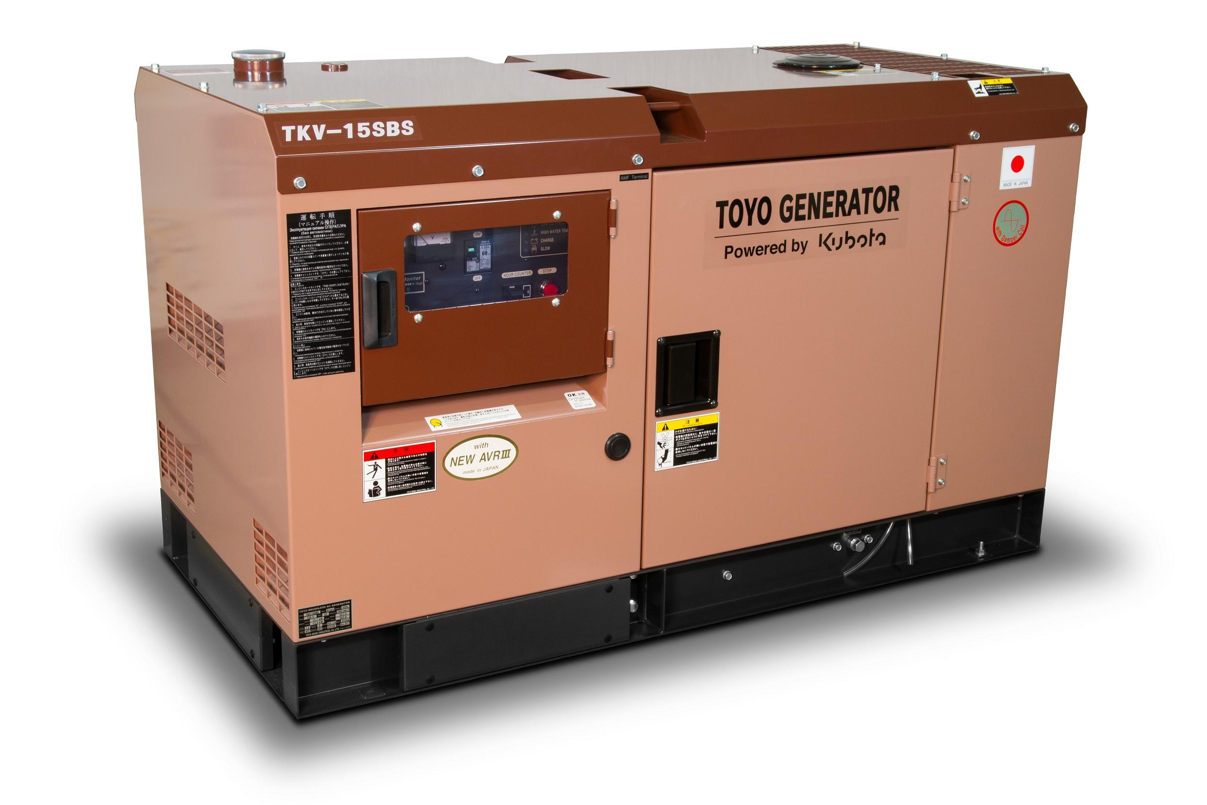 Дизельный генератор (электростанция) TOYO TKV-15SBS