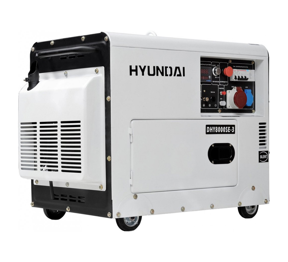 Дизельный генератор (электростанция) Hyundai DHY 8000SE-3