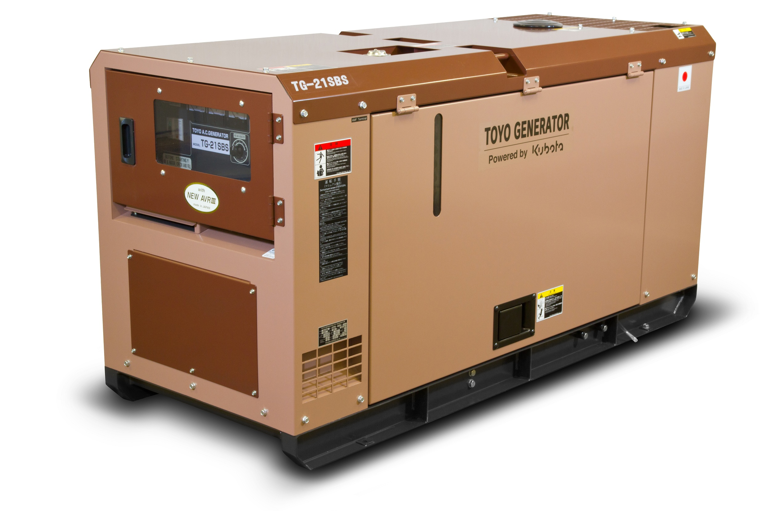 Дизельный генератор (электростанция) TOYO TG-21SBS